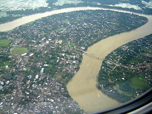 Cachar district - Bird's eye view of Silchar.