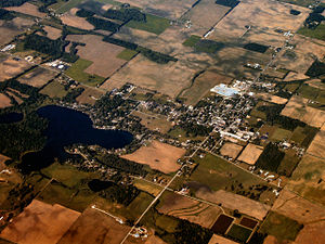 Silver Lake, Indiana - Silver Lake from the air.