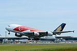 Singapore Airlines, Airbus A380-800 9V-SKI '50th anniversary of Singapore' NRT (21488170199).jpg