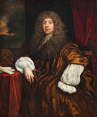 Kings Weston House - Sir Robert Southwell in a painting by Kneller hanging at Kings Weston House