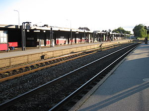 Skanderborg-Skjern Line - Skanderborg  station