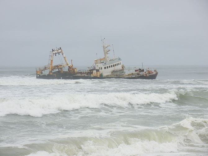 Wreck on the Skeleton Coast, Namibia