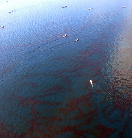 Oil skimming vessels (distance) in the Gulf of Mexico Skimming Oil in Gulf of Mexico.jpg