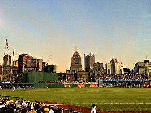 PNC Park - Skyline of Downtown Pittsburgh from PNC Park