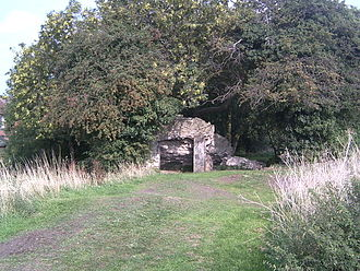 Scheduled monument - With a moat, this is the only scrap of masonry that remains of Sleaford Castle.
