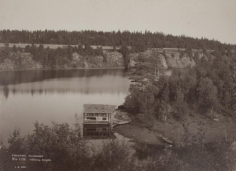 Cabana de um pescador em Pielavesi, interior da Finlândia [c. 1893]