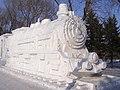 Snow steam train, Harbin International Ice and Snow Sculpture Festival (3238491084).jpg