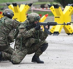 Ground Forces of the Slovak Republic - Slovak soldiers from 12th Mechanized Battalion