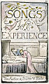 Songs of Innocence and of Experience, copy L, 1795 (Yale Center for British Art) 30-29 100 Experience Title.jpg