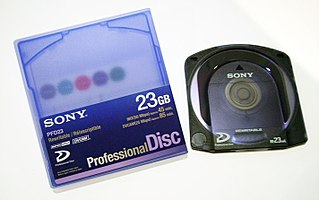 Professional Disc Proprietary optical disc format developed by Sony for storing digital video
