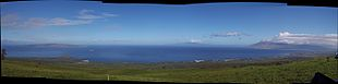 View from Upcountry Maui