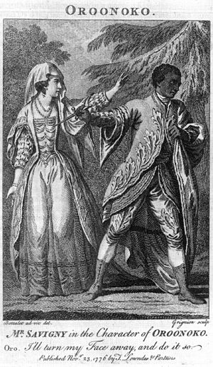 Noble savage - Oroonoko kills Imoinda in a 1776 performance of Thomas Southerne's Oroonoko.
