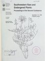 Southwestern rare and endangered plants - proceedings of the second conference - September 11-14, 1995, Flagstaff, Arizona (IA CAT10817317).pdf