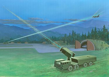 Soviet Mobile Lasers Defending an Airfield by Edward L. Cooper, 1987.jpg