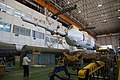 Soyuz TMA-09M rocket in the assembling facility 2.jpg