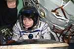 "Soyuz simulator - Just ""landed"" into the descent module from the orbital module (6794598009).jpg"