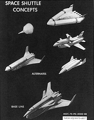 Space Shuttle program - Early U.S. space shuttle concepts.
