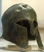 Spartan helmet 2 British Museum