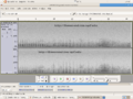 Spectrogram of digitally watermarked sound file.png