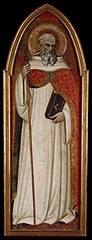 St Benedict (wing of a polyptych)