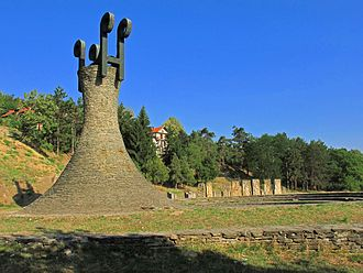 "Leskovac - WWII memorial park and ""Goddess of Victory"" statue"