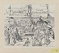 Spotprent op de overdreven vrees in Nederland voor de in België heersende pokkenepidemie, 1880 Stoom Koepokinenting (titel op object), RP-P-1911-611.jpg