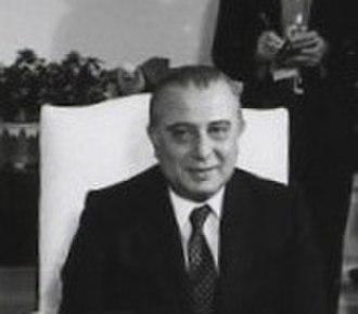President of Cyprus - Image: Spyros Kyprianou 1981 crop