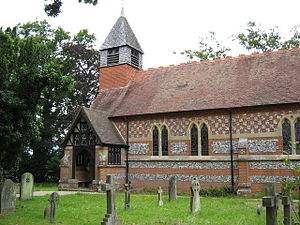 Beech Hill, Berkshire - Image: St.Mary the Virgin church Beech Hill Berkshire