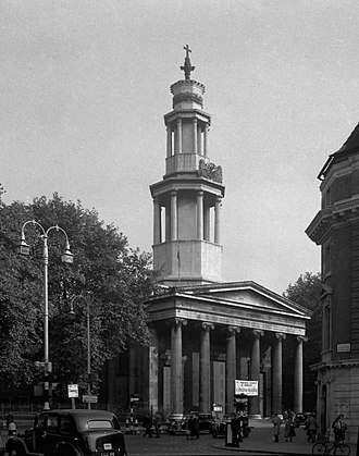 St Pancras New Church - The church pictured in 1948.