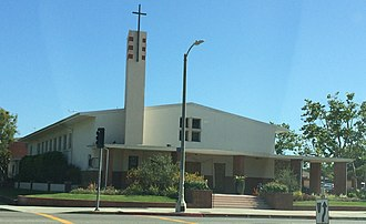 Our Lady of the Angels Pastoral Region - Image: St. Anastasia Church and School Los Angeles