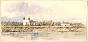 Le Musée de Saint-Boniface Museum - Saint Boniface Cathedral and the Grey Nuns' Convent in 1858