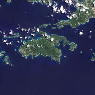 Saint John, U.S. Virgin Islands - Natural-colour satellite image of Saint John.