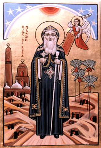 Abbot - Coptic icon of St. Pachomius, the founder of cenobitic monasticism.