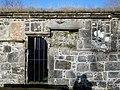 St Fillan's Kirk, Kilallan, Renfrewshire - date stone, blocked windows, etc.jpg