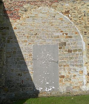 St Giles' Church, Horsted Keynes - This pointed arch is all that remains of the 14th-century former chantry chapel.