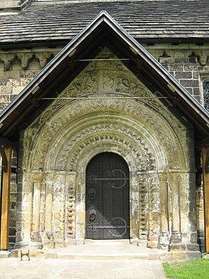St John the Baptist Church, Adel - Doorway