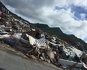 Sint Maarten - Ground view of Hurricane Irma's damage