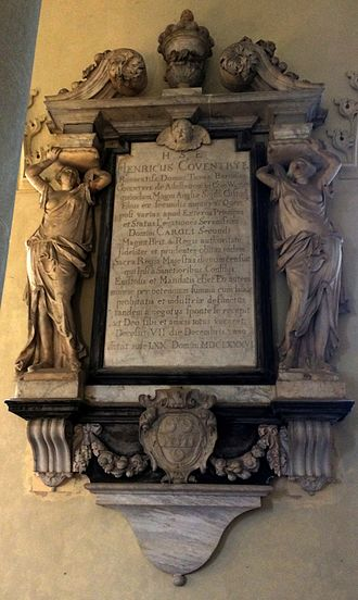 Henry Coventry - Memorial to Henry Coventry in the church at Croome Court