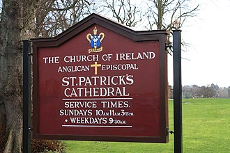 St Patrick's Cathedral, Armagh (Church of Ireland) - St Patrick's Cathedral sign, November 2009