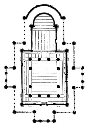 Stave church - Borgund stave church Floorplan of the church, depicting the lower frame