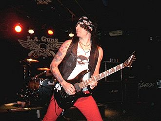 L.A. Guns - Stacey Blades with L.A. Guns in 2008.