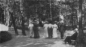 Oskarshamns Stadspark - The park in late 19th century.
