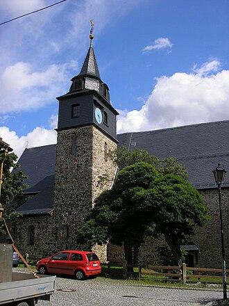 Saalburg-Ebersdorf - Image: Stadtkirche Saalburg