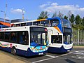 Stagecoach Events Enviro 300 and 400. 27742 and 10047. Olympic games vehicles (7754128144).jpg