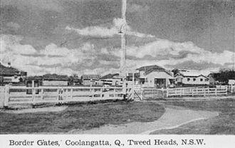 Coolangatta - Border Gates between Coolangatta and Tweed Heads, 1943