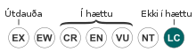 Status iucn3.1 LC-is.svg