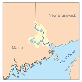St. Croix River (Maine–New Brunswick) - The St. Croix River watershed