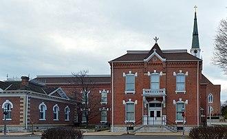 Ste. Genevieve County, Missouri - Image: Ste Genevieve Missouri Courthouse 20150101 015 pano