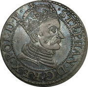 Commonwealth coin minted during the reign of King Stefan Batory