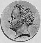 Медальон с профилем Стендаля (1892)
